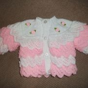 roses and layers of frills cardigan