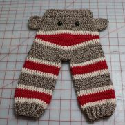 Sock Monkey Butt Pants