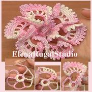 Crochet 3D Flowe
