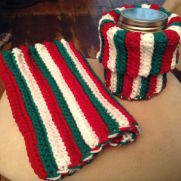 Boot Cuffs (V) - Candy Canes