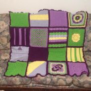 Lilac Garden Afghan for Madge