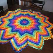 Rainbow Baby Blanket, 12 point star