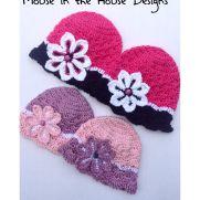 Flowered Shells hat