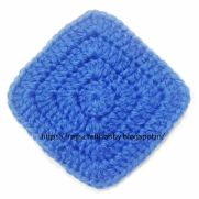 Solid Granny Square Coaster without Gaps