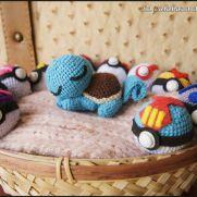 Sleepy Squirtle Amigurumi - Pokemon - La Calabaza de Jack