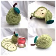 Sliced Pear Coaster Set