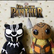 Black Panther Amigurumis - Marvel - La Calabaza de Jack