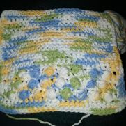 set of 2 scrubbies and a dishcloth