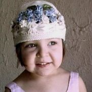 Blue Floral Hat