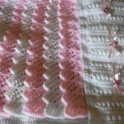Ribbon Roses and Frills Baby Blanket