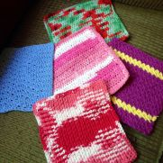 "More dishcloths for my ""creating for a cause"" project..."
