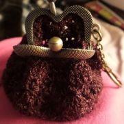 Burgundy coin purse