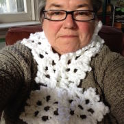 Snowflake Scarf & Fingerless Gloves