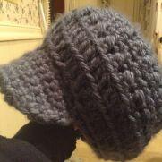 Slouchy peaked cap