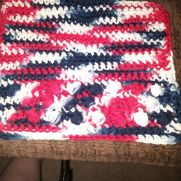 4th of july dishcloth and 2 scrubbies