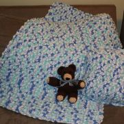 "Baby Bubbles Blanket & Pillow with ""Beary"" Cute Bear"