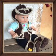 Newborn Cowboy Outfit