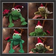 Christmas Frog Ornaments