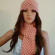 Beanie & Scarf Combo Apricot