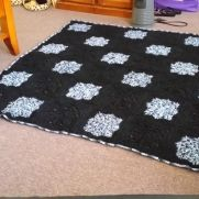 Black & Blue Star Motif Rug
