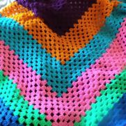 Multi colored shawl