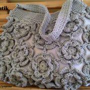 Silver flower bag
