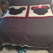 Minnie and Mickey afghan