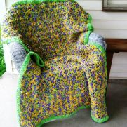 Crochet Lap Afghan Made with Bernat Blanket Yarn