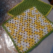 Springtime dishcloth
