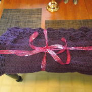 my soft Lions Brand Homespun LG. lap blanket