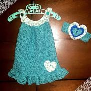 Halter Ruffle Dress with Headband