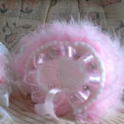 girls frilly hat
