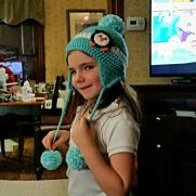 Earflap Beanies with Pompoms