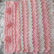 Flower and Frills Knitted and Crochet Blanket