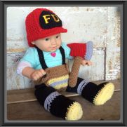 Newborn Firefighter Outfit