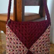 Sparkling maroon bag