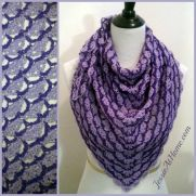 Lavender Blooms Shawl