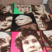 Harry Potter Blanket Sepia Backside