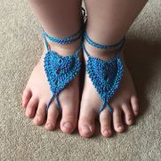 Barefoot Sandals Heart Shape