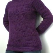 Plum Top-down Sweater