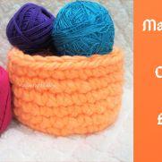 Make Your Own Chunky Yarn Basket