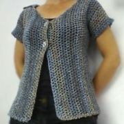 Marble Mesh Short Sleeved Cardigan