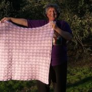 Pink and lavender baby blanket