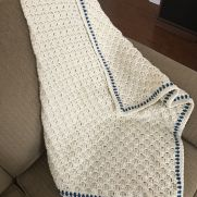 Crocheted C2C baby blanket