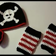 Pirate Hat and Matching Leg Warmers