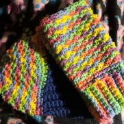 Varigated fingerless gloves