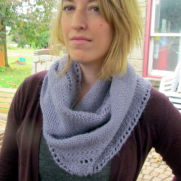 mohair/wool/acrylic blend infinity scarf