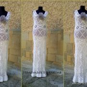 Wedding Dress, Crochet Lace Dress, Wedding Dress Boho, Sexy Beach Wedding Dress, Bridal Dress,