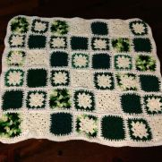 Patchwork green and white
