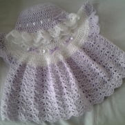 Angel top and frilled hat